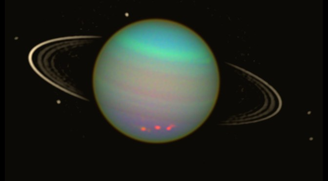 Uranus in false colors seen by Hubble Space Telescope. © NASA / E. Karkoschka (Univ. Arizona)