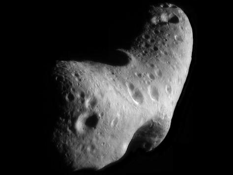 Eros seen by NEAR Shoemaker. © NASA/JPL-Caltech/JHUAPL