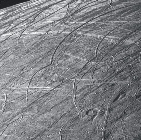 Cycloids on Europa, seen by the spacecraft Galileo. © NASA