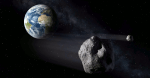 Artist's impression of a Near-Earth Asteroid passing by Earth. Credit: ESA