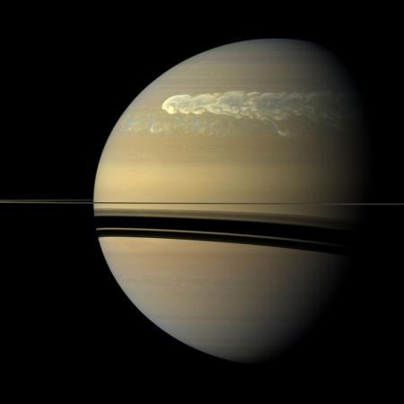 The Great White Spot observed by Cassini in February 2011. Credit: NASA/JPL-Caltech/Space Science Institute