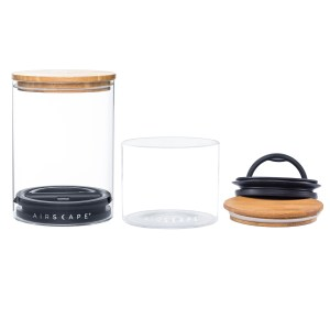 Photo of Airscape Glass with Bamboo Lid Kitchen Canister Set
