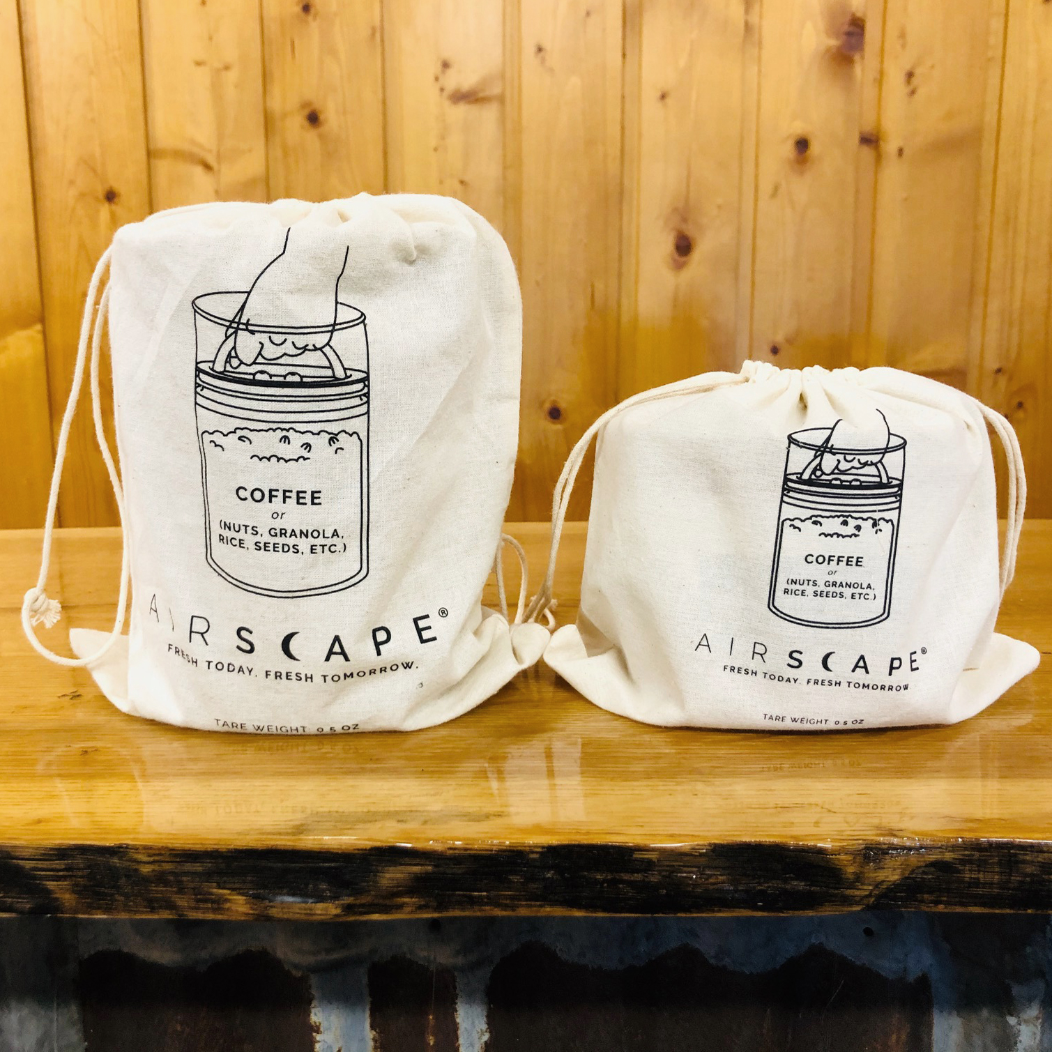 photo of front of Airscape cotton refill bags