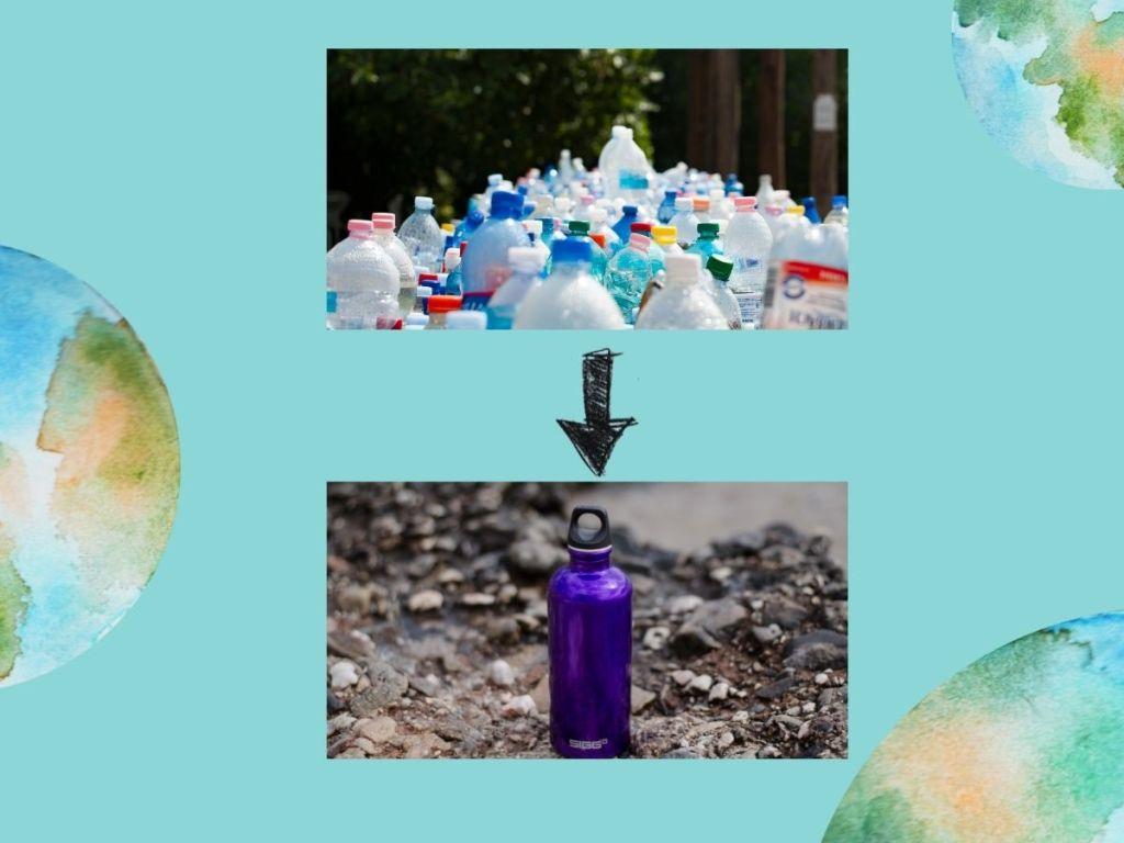 zero dechet bouteilles plastiques remplacee par gourde