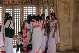 Local women at Agra Fort