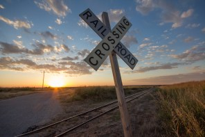 Railroad Crossing Sign, Weatherford, Oklahoma