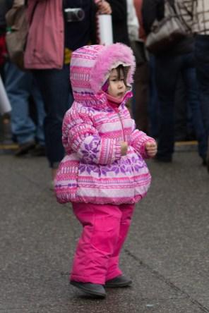 Bundled up kid at the Iditarod