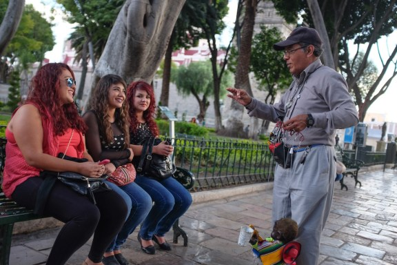 street performer in the zocalo