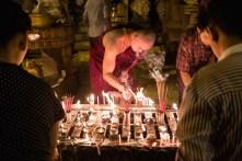 Monk at the Schwedagon Pagoda