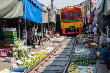 Train Market Thailand