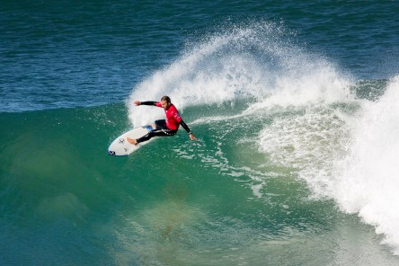 Caio Ibelli of Brasil will surf in Round Three of the Corona Open J-Bay after his win over Stu Kennedy of Australia in Round Two, Heat 9 at Supertubes, Jeffreys Bay, South Africa..