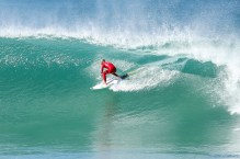 Filipe Toledo advances to Round Three of the Corona Open J-Bay after defeating rookie Kanoa Igarashi of the USA in Heat 8 of Round Two in pumping Supertubes, Jeffreys Bay, South Africa.