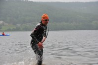 Another funny face - getting out of the water photos always look strange