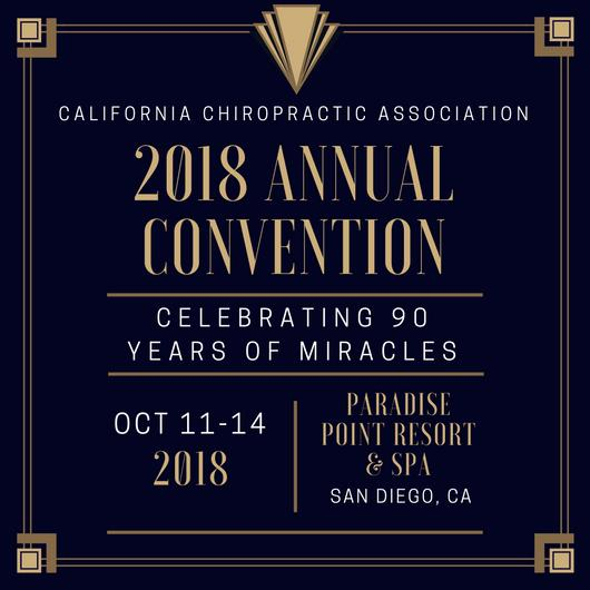 California Chiropractic Convention October 2018