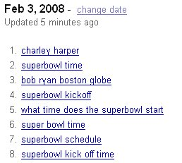 2008 Super Bowl time