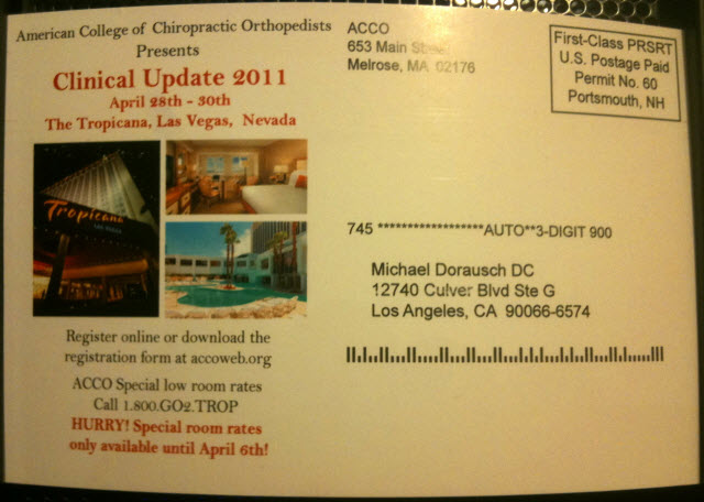 American College Chiropractic Orthopedists
