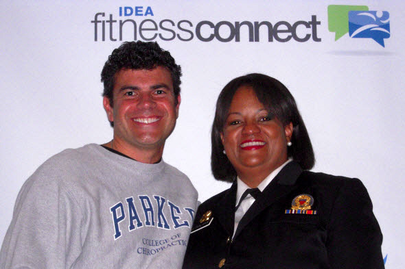 Fabrizio Mancini and U.S. Surgeon General Regina Benjamin
