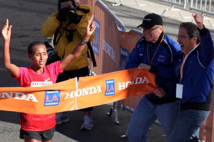 Fatuma Sado LA Marathon 2012