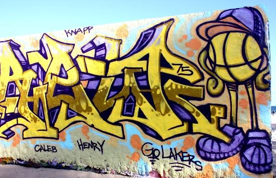 Go Lakers - Laker Themed Graffiti in Venice Beach 2009