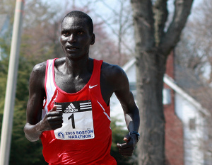 2008 Boston Marathon winner Robert Kipkoech Cheruiyot