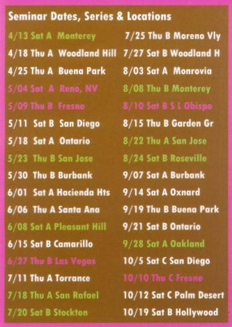 Tong Seminar Dates & Locations