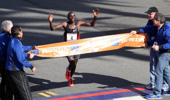 Simon Njoroge LA Marathon 2012
