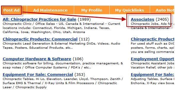 chiropractic jobs associates ad