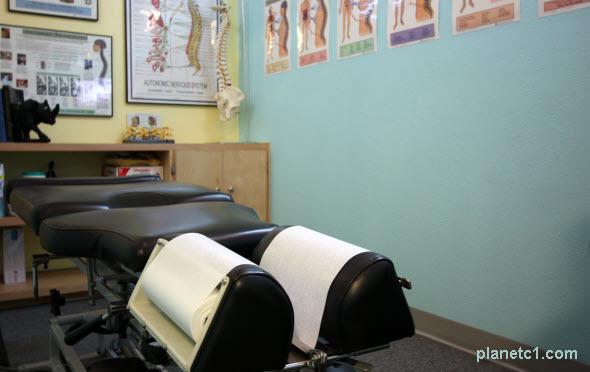 chiropractic office adjusting room