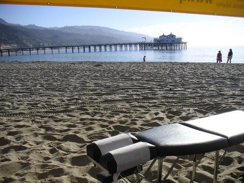 Chiropractor Table Malibu Beach