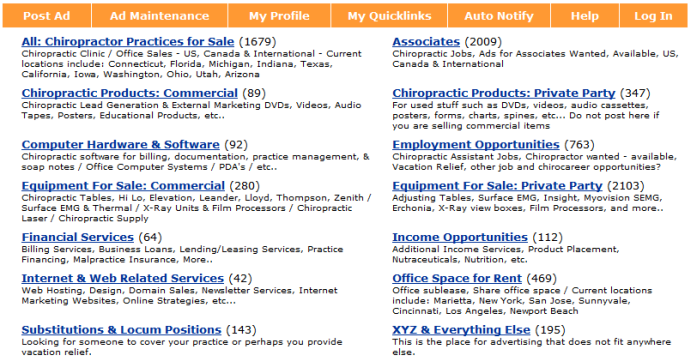 Category Changes Coming to Chiropractic Classifieds - Planet