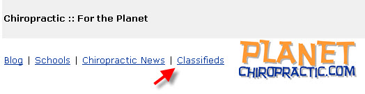 locate the classifieds link