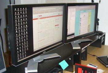 New 30 inch double Dell monitors