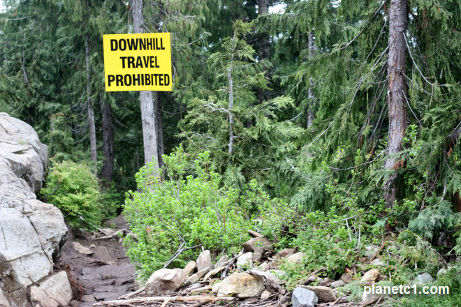 Downhill Travel Prohibited Grouse Grind