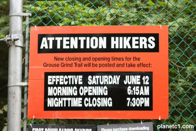 Grouse Grind Trail Posted Signs