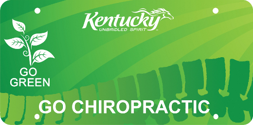 Go Green Go Chiropractic KY License Plate