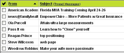 manipulation under anesthesia e-mail spamming