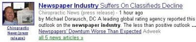 newspaper industry classified news