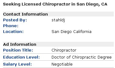 seeking licensed chiropractor
