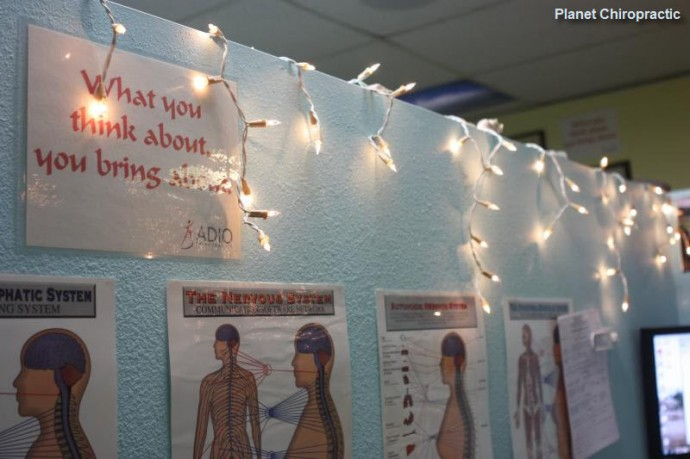 Chiropractic Posters and Christmas Lights