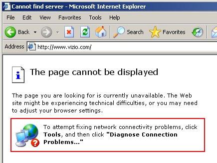 vizio.com web site down seconds after Superbowl XLIII commercial
