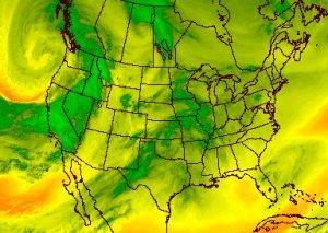 water vapor weather map