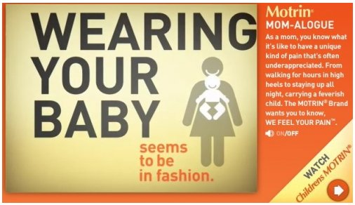 Wearing Your Baby seems to be in fashion