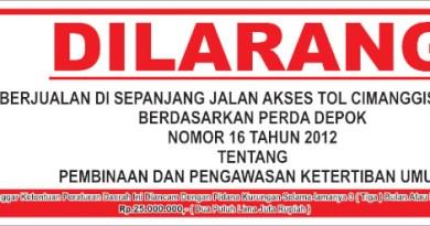Kecamatan Tapos Tertibkan PKL Akses Leuwinanggung – Cikeas