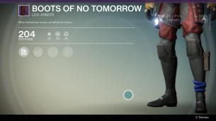 Boots of no tomorrow