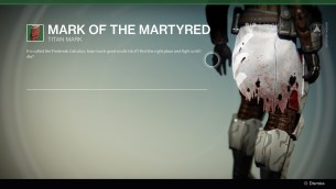 Mark of the Martyred