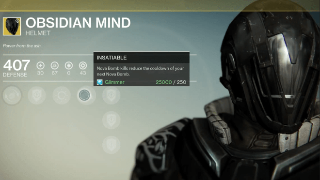 obsidian mind exotic helm