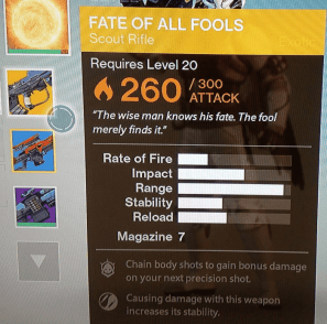 fate of all fools exotic