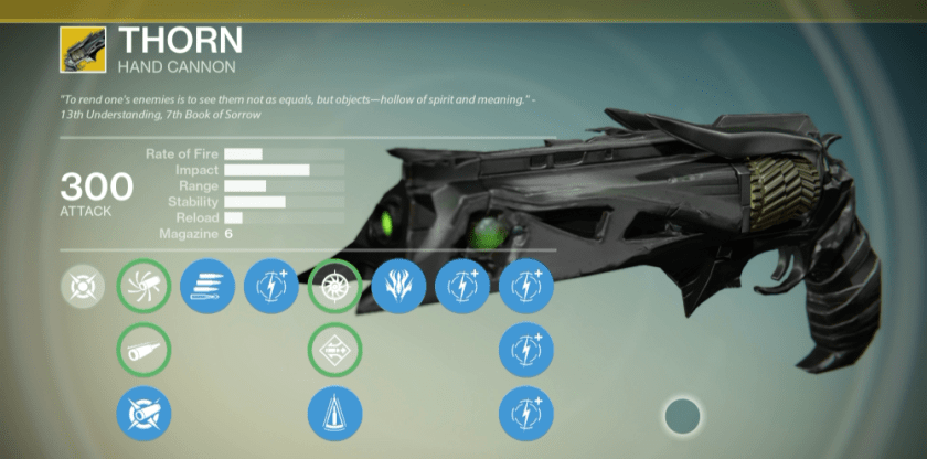 thorn exotic hand cannon