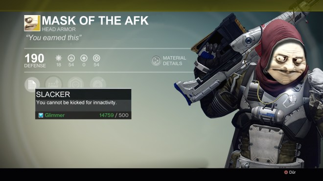 Mask of the AFK
