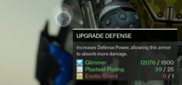exotic shard armor